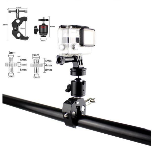 Зажим крепление для студийных аксессуаров металлический до 54 мм - фото 3