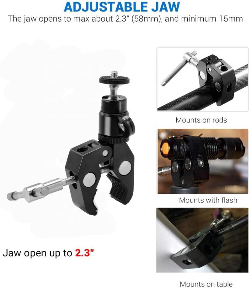 Зажим крепление для студийных аксессуаров металлический до 54 мм - фото 9