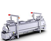 Линейная печь AGU: Двухзонная система готовки