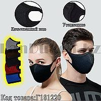 Многоразовая защитная маска от пыли и холода зимние утепленные двухслойные в сетку Fashion Mask в ассортименте