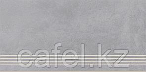 Керамогранит 30х60 - Таунхаус | Townhouse серый ступень