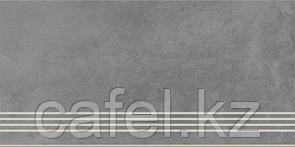 Керамогранит 30х60 - Таунхаус | Townhouse темно-серый ступень