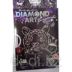 """Набор креативного творчества """"DIAMOND ART Тигр с розой"""""""