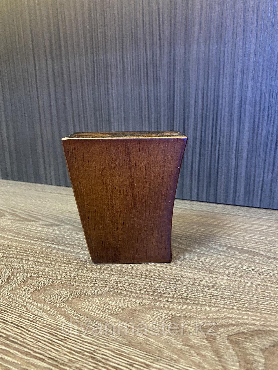 Ножка мебельная, деревянная с изгибом. 90 мм