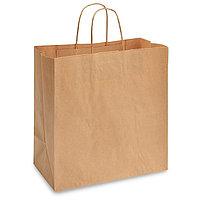 Бумажный крафт пакет с нанесением логотипа 33/16/31см, 78 грамм