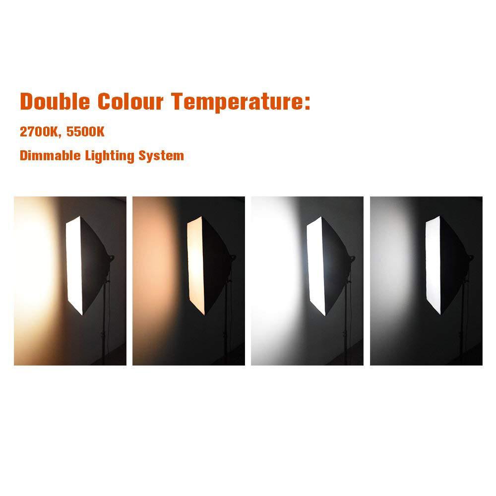 Софтбокс 50×70 с LED лампой с теплым и холодным светом  СО СТОЙКОЙ