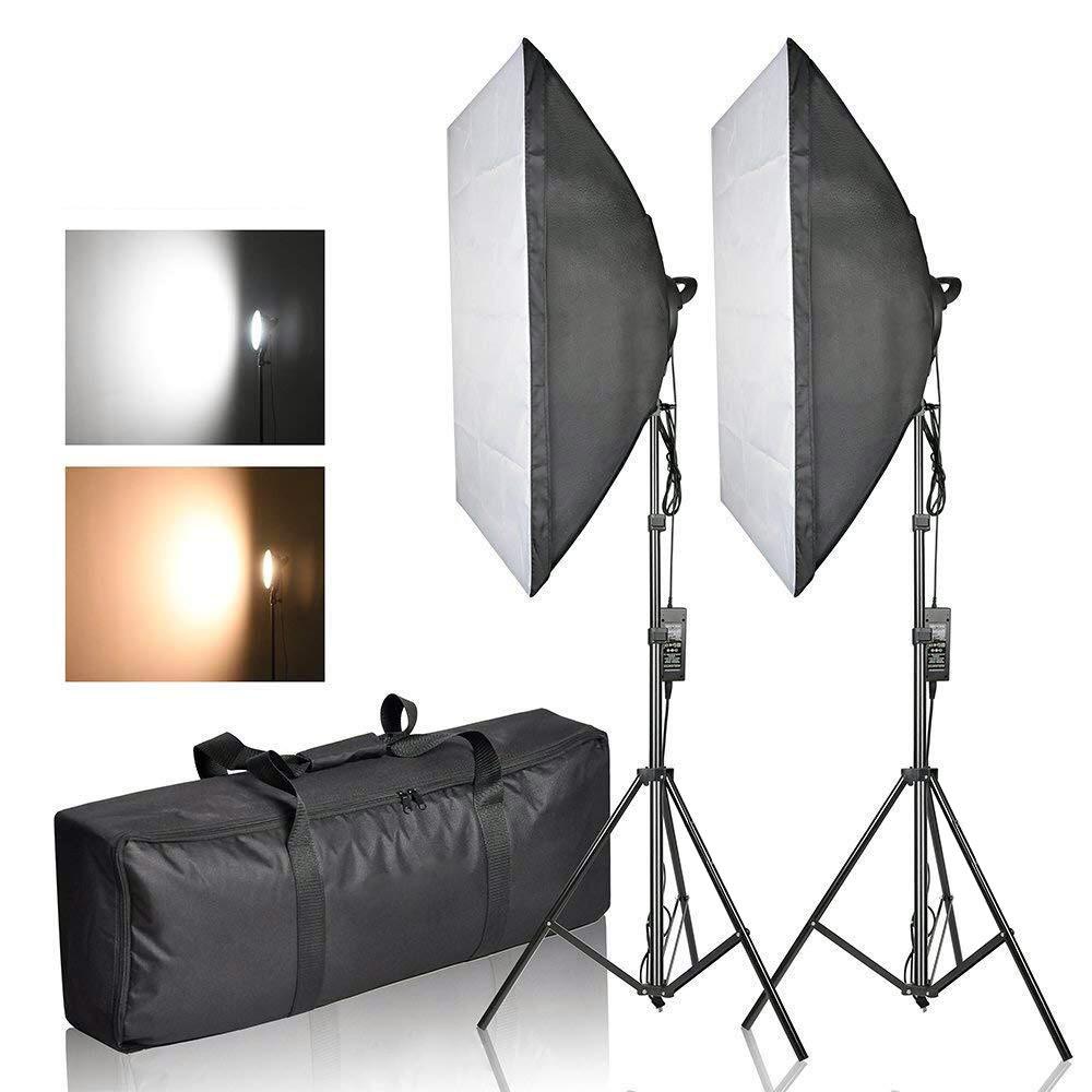 Софтбокс 50×70 с LED лампой с теплым и холодным светом СО СТОЙКОЙ - фото 3