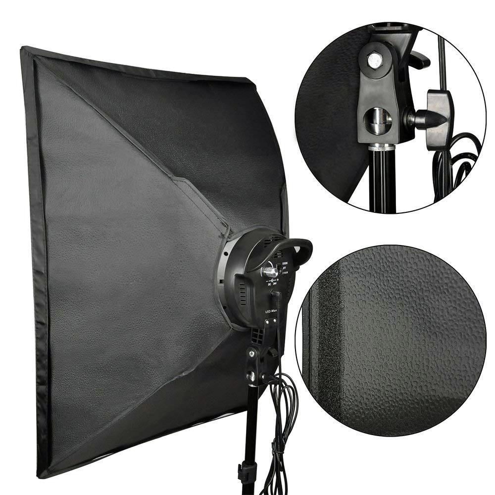 Софтбокс 50×70 с LED лампой с теплым и холодным светом СО СТОЙКОЙ - фото 10