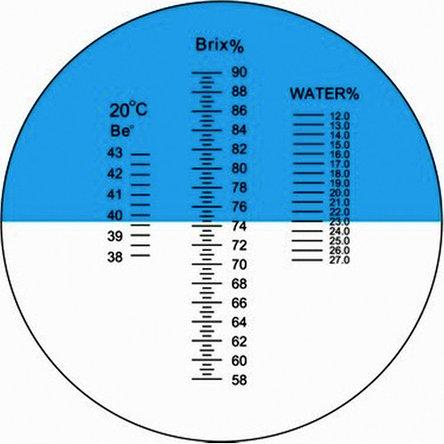 Рефрактометр для джема, мёда, сахара и сиропа - RHB-90 ATC, фото 2