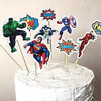 Топперы набор Супер герои