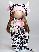 Набор для шитья куклы - корова Милка / Набор для творчества