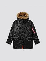 Alpha Industries Куртка-парка Alpha Industries SLIM FIT N-3B, натуральный мех MJN31220B, XL, Black/Orange