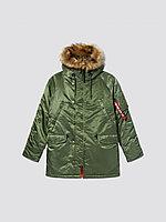 Alpha Industries Куртка-парка Alpha Industries SLIM FIT N-3B, натуральный мех MJN31220S, XL, Sage/Orange