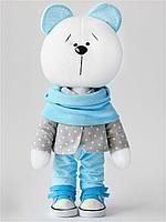 Набор для создания текстильной игрушки - Мишка мальчик