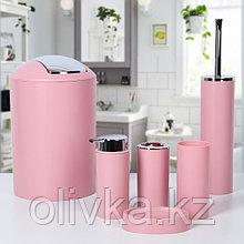 Набор аксессуаров для ванной комнаты «Сильва», 6 предметов (дозатор, мыльница, 2 стакана, ёршик, ведро), цвет