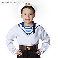 Морская рубашка «Фланка», детская, р. 36, рост 140 см, цвет белый