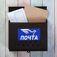 Ящик почтовый без замка (с петлёй), горизонтальный 'Письмо', коричневый (комплект из 2 шт.)