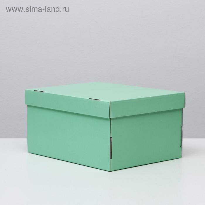 Складная коробка, мятная, 31,2 х 25,6 х 16,1 см - фото 1