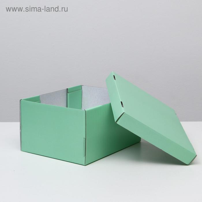 Складная коробка, мятная, 31,2 х 25,6 х 16,1 см - фото 2