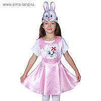 Карнавальный костюм «Зайка», сарафан, маска-ободок, р. 32, рост 122-128 см