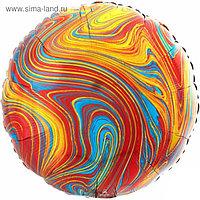 """Шар фольгированный 18"""" «Мрамор», круг, разноцветный"""