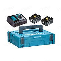 Набор Makita в кейсе: аккумулятор BL1850B 2 шт.+ зарядное устройство DC18RC 18V 2x4.0 Ач 198311-6