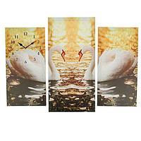 Часы настенные модульные «Пара лебедей», 60 × 80 см, фото 1