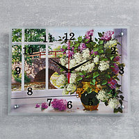 "Часы настенные, серия: Цветы, ""Цветы в вазе"", 30х40 см, микс"