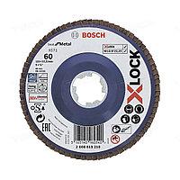 Лепестковый круг Bosch 125*G60 X-LOCK 2608619210