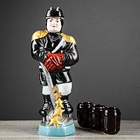 """Набор для коньяка """"Хоккеист"""", 4 предмета в наборе, 0,95 л/0.05 мл, микс"""
