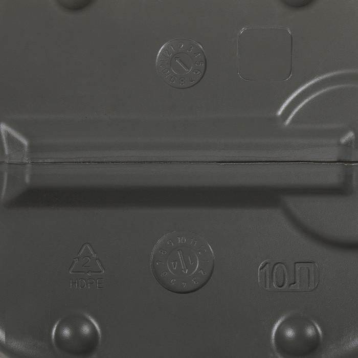 Канистра хозяйственно-бытовая, 10 л, серая - фото 8