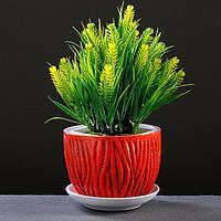 Горшок цветочный Кора красный, 1 л