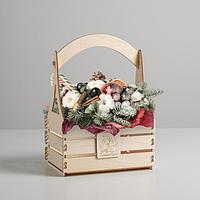 Кашпо флористическое «Новогодняя ель», 15 × 21 × 31.5 см