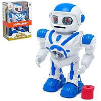 Робот «Космический воин», световые и звуковые эффекты, стреляет дисками, работает от батареек, цвета МИКС