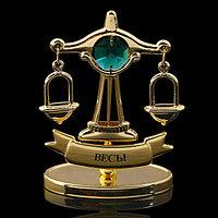 Сувенир знак зодиака «Весы», 7×2,3×9 см, с кристаллом Сваровски
