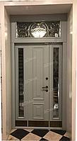 Железные двери двухстворчатые со стеклом