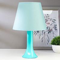 Лампа настольная 13204 1хЕ27 15Вт бирюзовый d=22 см, h=34,5 см