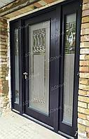 Двери металлические со стеклопакетом на заказ