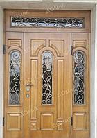 Металлические двери двухстворчатые с ковкой