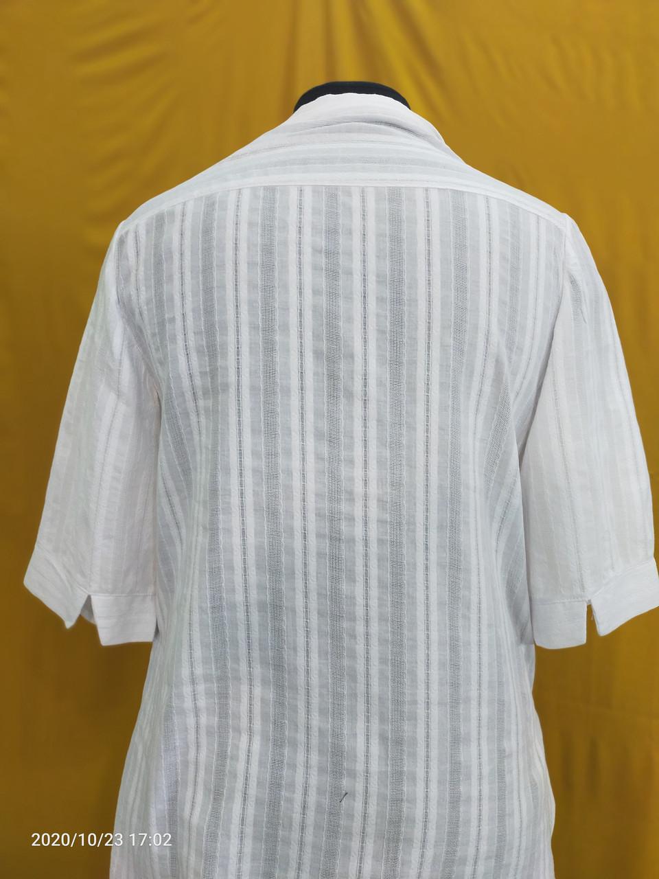 Белая рубашка женская офисная - фото 4