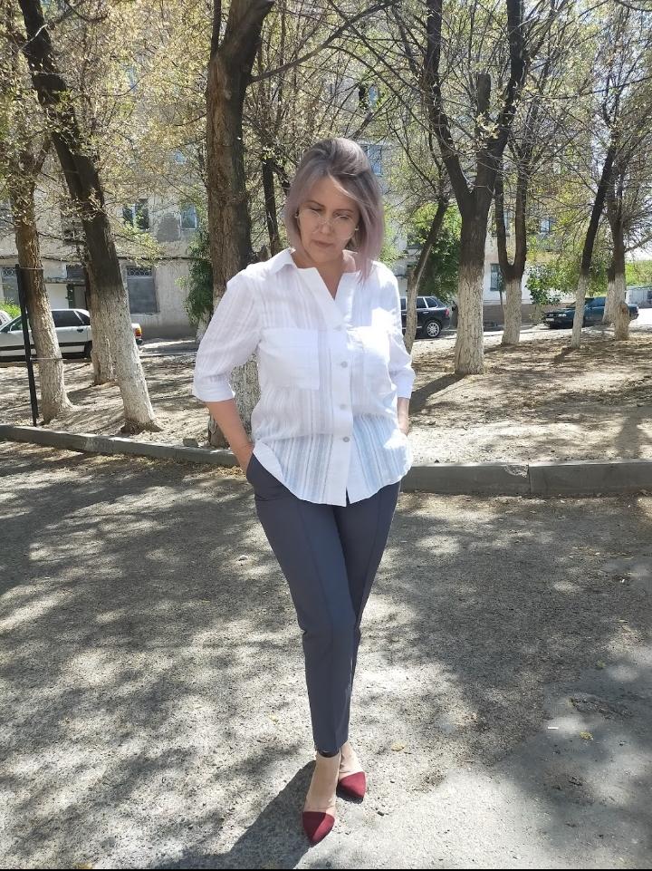 Белая рубашка женская офисная - фото 1