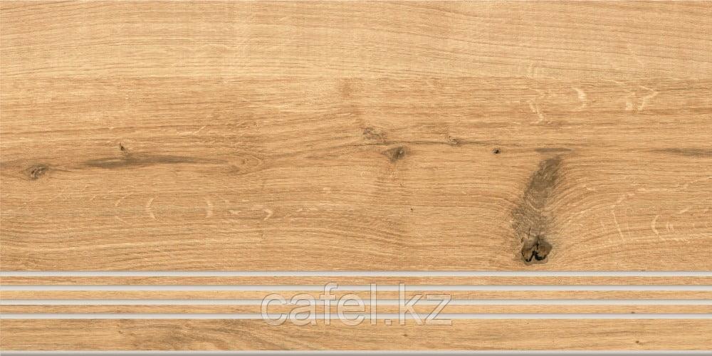 Керамогранит под дерево 30х60 Woodhouse   Вудхаус коричневый ступень
