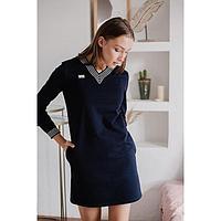 Платье женское, цвет тёмно-синий, размер 42