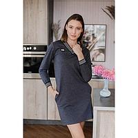 Платье женское, цвет антрацит, размер 52