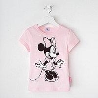 """Футболка детская Disney """"Минни"""", рост 110-116 (32), розовый"""
