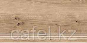 Керамогранит под дерево 30х60 Woodhouse | Вудхаус коричневый ступень