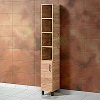 Шкаф для ванной «Акваль Лофт» 30 см. Вотан дерево
