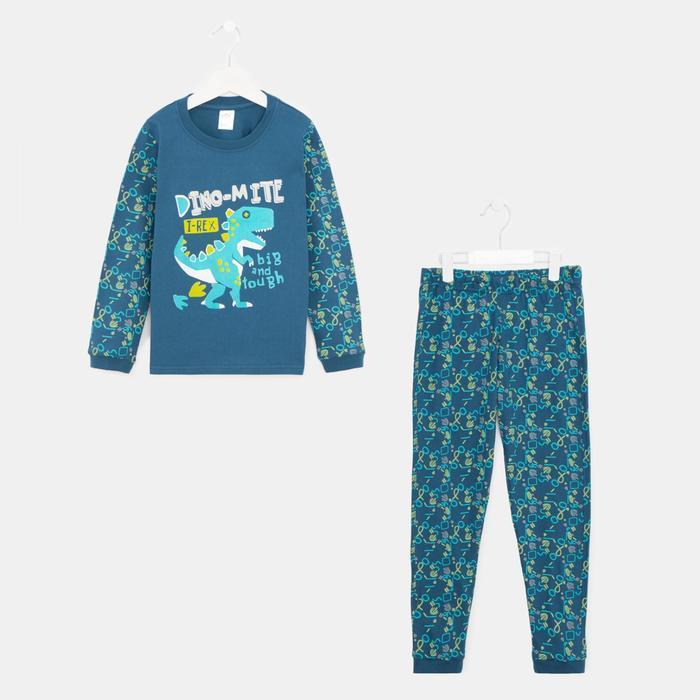 Пижама для мальчика, цвет синий, рост 110-116 см
