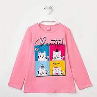 Туника для девочки, цвет розовый, рост 98-104 см, фото 1