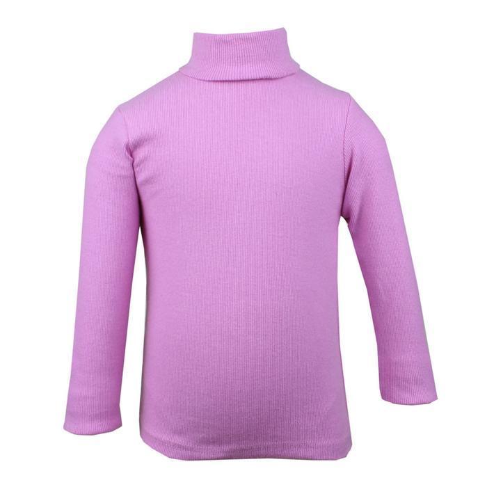Водолазка для девочки, цвет розовый, рост 98 см